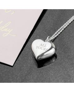 Personalised Sterling Silver Cherish Heart Necklace