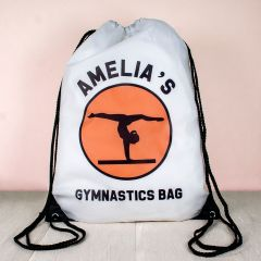 Personalised Kids Drawstring Gymnastics Sports Bag