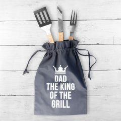 Personalised King Of The Grill BBQ Tools Set