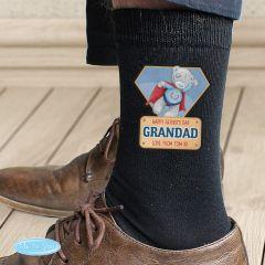 Me To You Personalised Super Hero Mens Socks