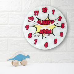 Personalised Pow Comic Design Wall Clock