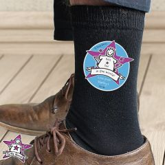 Personalised Purple Ronnie Design Men's Socks