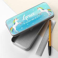 Personalised Rainbow Unicorn Pencil Case