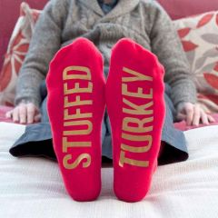 Personalised Red & Gold Adult Socks