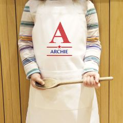 Personalised Boys Initial Children's Cookery Apron
