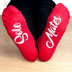 Personalised Sole Mates Romantic Red Socks for Ladies