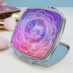 Personalised Spirited Square Compact Mirror