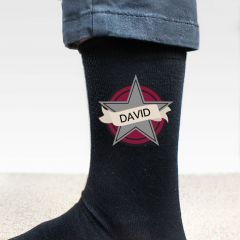 Personalised Star Men's Socks