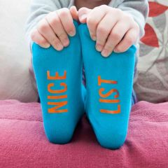 Personalised Turquoise & Orange Kids Socks