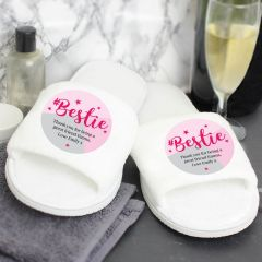 Personalised #Bestie Friends Slippers