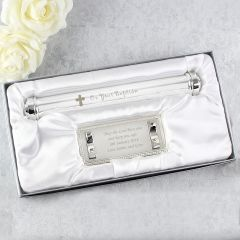 Personalised Silver Plated Baptism Certificate Holder