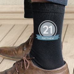 Personalised Birthday Design Men's Socks