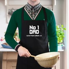 Personalised The No1 Dad Apron