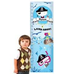 Personalised Pirate Childrens Height Chart