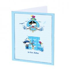 Personalised Blue Pirate Scrapbook A4
