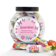 Personalised Butterfly Design Sweets Jar