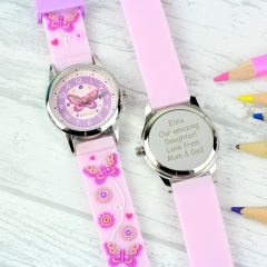 Personalised Children's Butterfly Watch