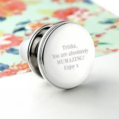 Personalised Contemporary Silver Bottle Stopper