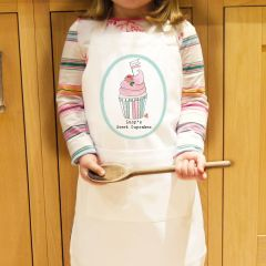 Personalised Vintage Pastel Cupcake Children's Cookery Apron