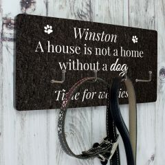Personalised Dog Lead 4 Hook Plaque