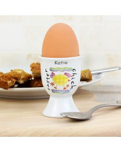 Personalised Easter Chick Design Egg Cup