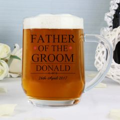Personalised Father of the Groom Beer Tankard