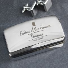 Personalised Wedding Design father of the Groom Cufflink Box