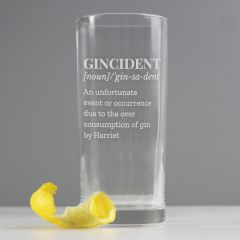 Personalised Gincident Hi Ball Gin Glass