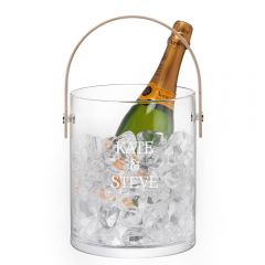 Personalised Glass Champagne Bucket