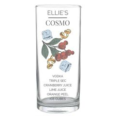 Personalised Hi Ball Cosmo Cocktail Glass