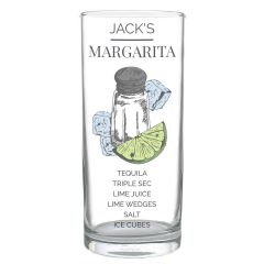 Personalised Hi Ball Margarita Cocktail Glass