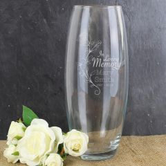 In Loving Memory Personalised Vase
