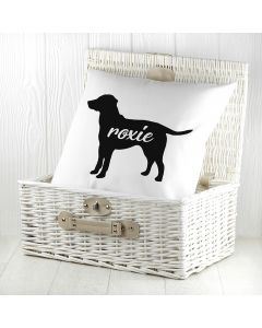 Personalised Labrador Dog Cushion Cover