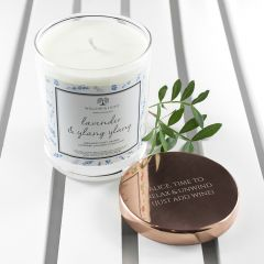 Personalised Lavender & Ylang Ylang Candle Luxury Scented Candle