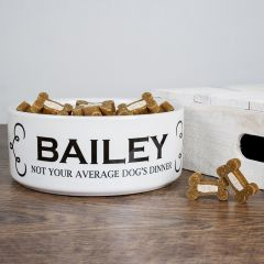 Personalised Not Your Average Dog's Dinner Food Bowl