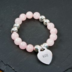 Personalised Pale Pink Love Bracelet
