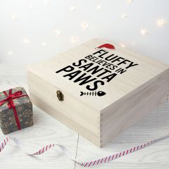 Personalised Santa Paws Cat Christmas Eve Box