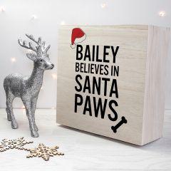 Personalised Santa Paws Dog Christmas Eve Box