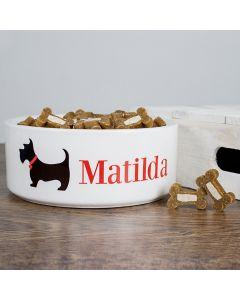 Personalised Scottie Dog Bowl