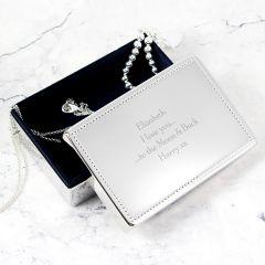Personalised Any Message Rectangular Design Jewellery Box