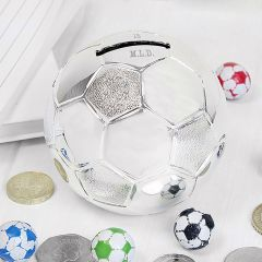 Personalised Football Design Money Box