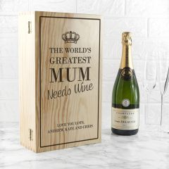 Personalised World's Greatest Mum Double Wine Box