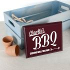 Personalised BBQ This Way! Garden Plaque Sign