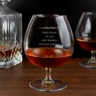 Personalised Decorative Design Brandy Glass